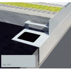 DURABAL BS T-Form Aluminium pulverbeschichtet grau 250cm