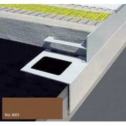 DURABAL BS T-Form Aluminium pulverbeschichtet braun 250cm