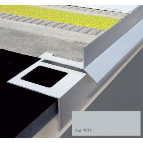 Durabal BT Tropfkante Aluminium pulverbeschichtet grau 300cm