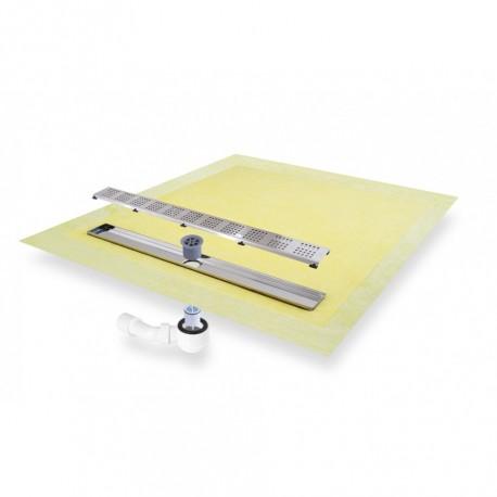 TILUX-LINE Komplett-Set mit 4-seitigem Gefälle rechteckig 90x150x4,5cm