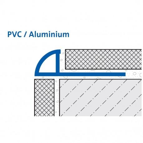 Durondell Viertelkreis-Abschlussprofil Aluminium pulverbeschichtet