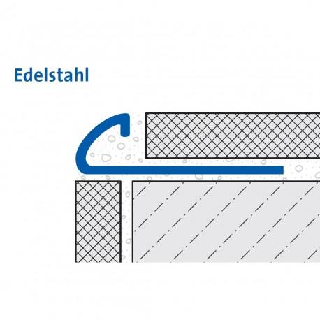 Durondell Viertelkreis-Abschlussprofil Edelstahl V2A